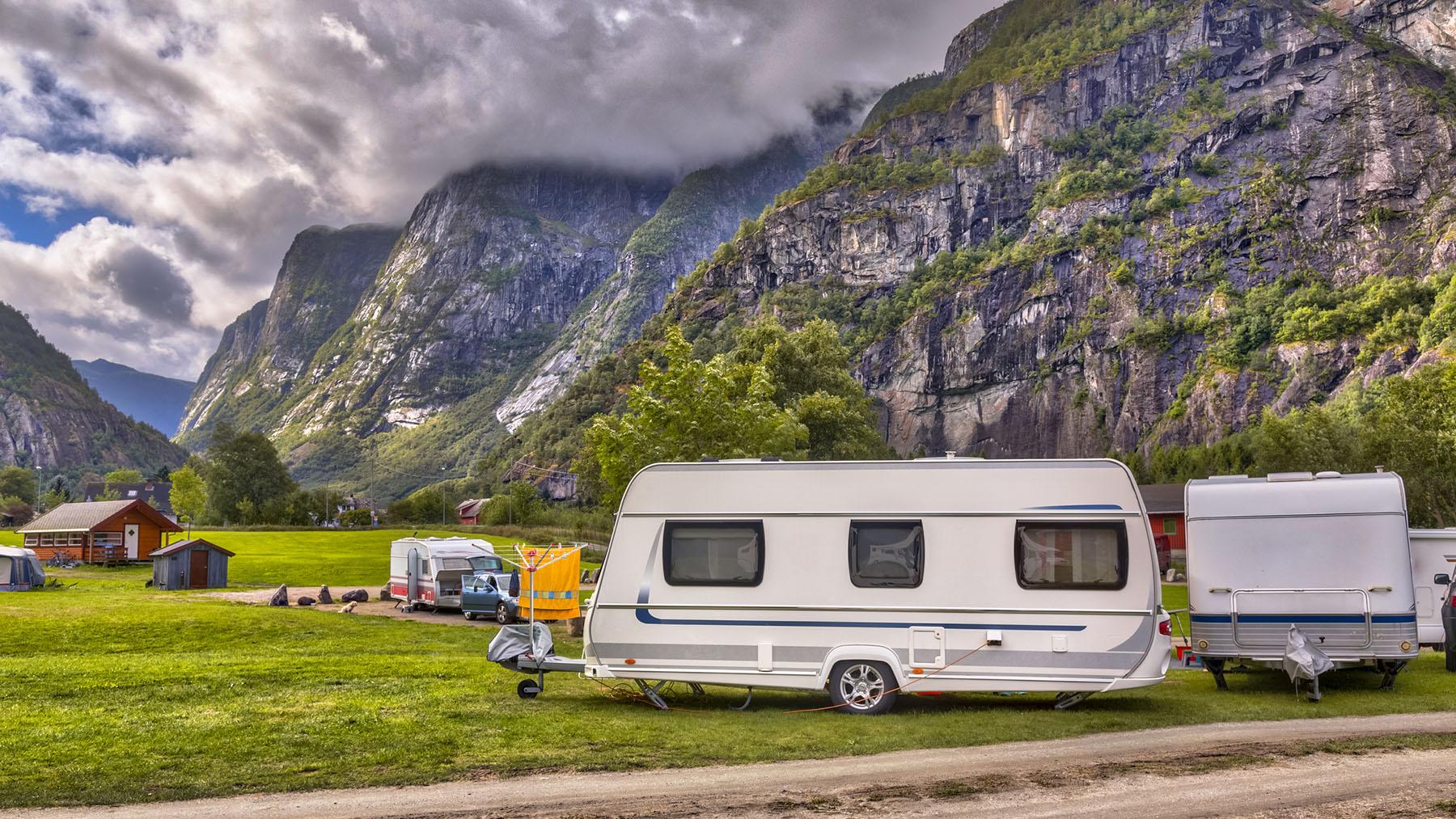 Caravan Repairs South Wales | Caravan on norwegian campsite